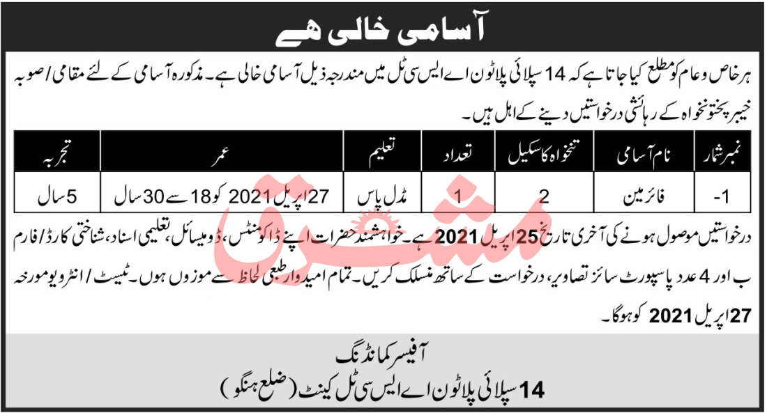 Government Sector Organization Jobs April 2021